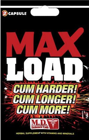 Pastillas Max Load para Aumentar el volumen de la eyaculación